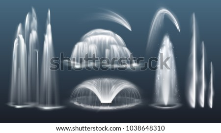 vector set of realistic water
