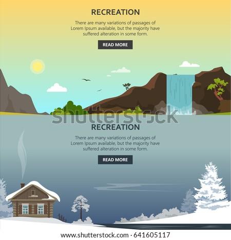vector set of recreation