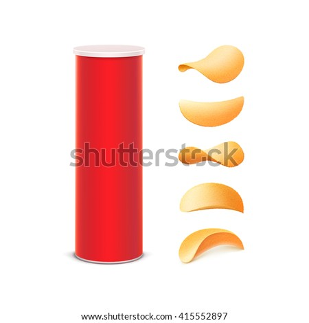 vector set of red tin box