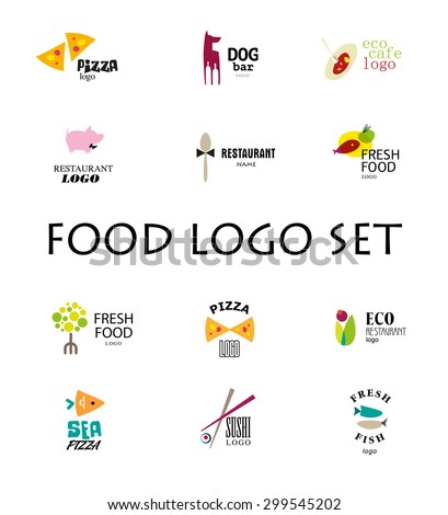 vector set of restaurant logo