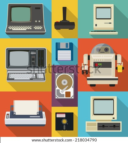 vector set of retro and vintage