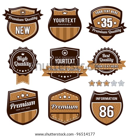 Vector set of retro badges.