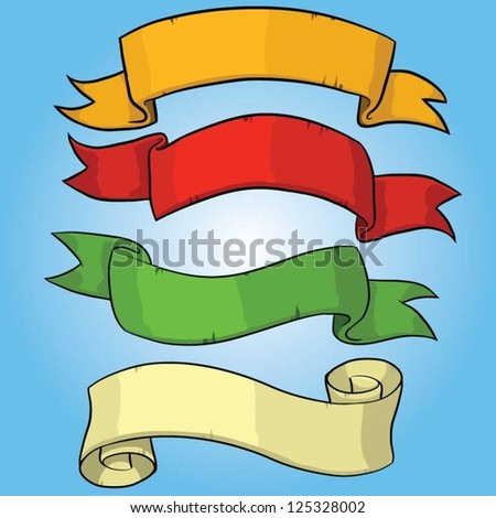 Vector set of Retro Ribbons and labels.