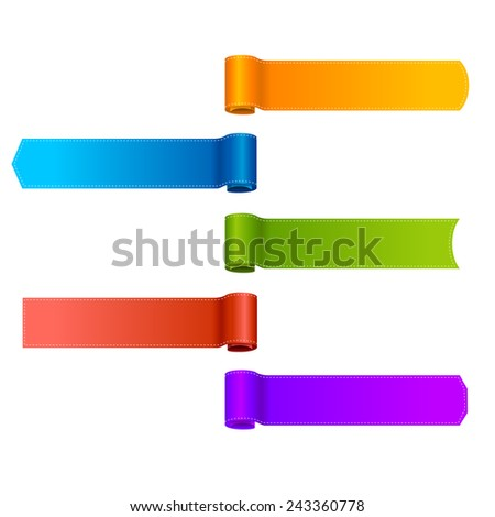 vector set of ribbons banners