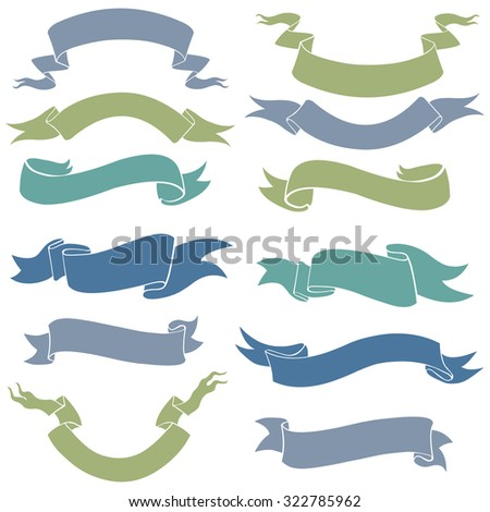 Vector Set of Ribbons for Your Text