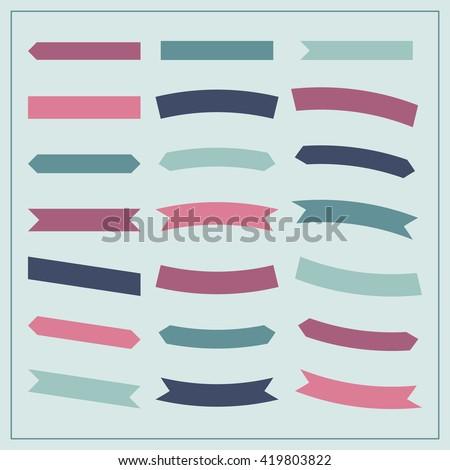 vector set of ribbons. ribbons...