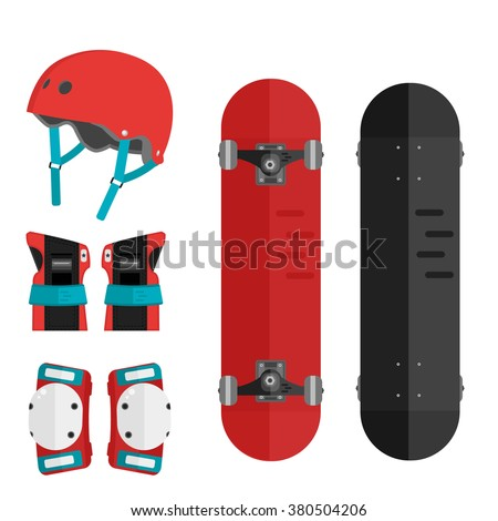 vector set of roller skating