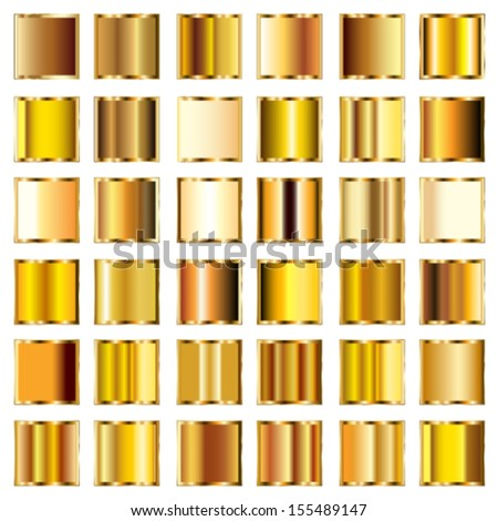 Gold Gradient Vector Vector Set of Round Gold