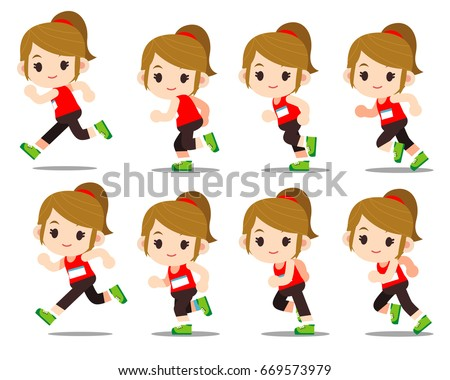 Running Athletes - Download Free Vector Art, Stock Graphics & Images