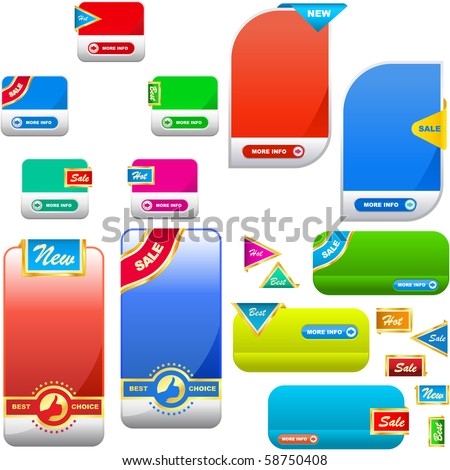Vector set of sale banner. Great collection. - stock vector