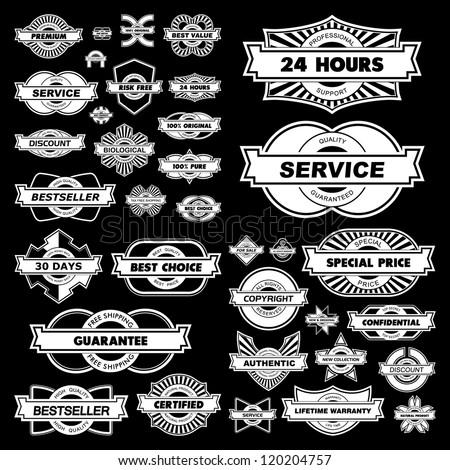 Vector set of sale design elements.