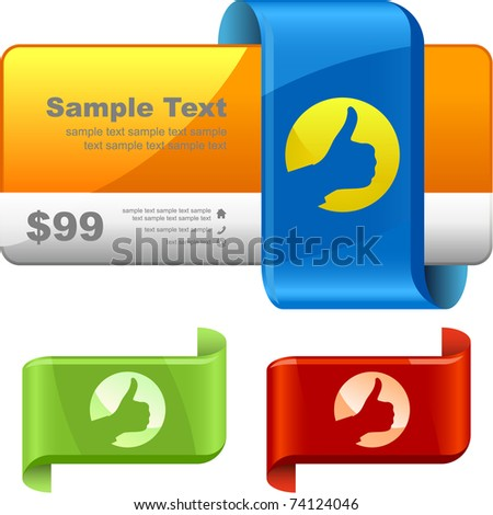 Vector set of sale design elements.