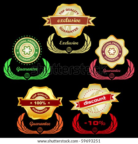 Vector set of sale label