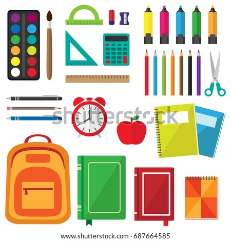 stock-vector-vector-set-of-school-supplies-back-to-school-background-with-stationery