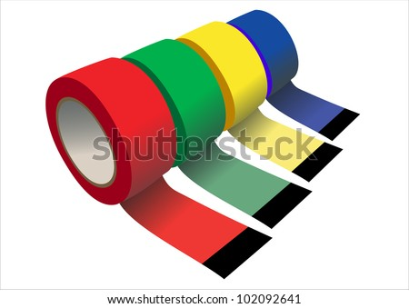 Vector set of  Scotch adhesive tape
