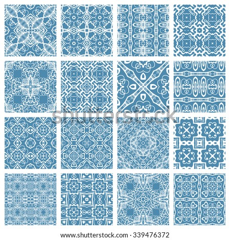 vector set of 16 seamless
