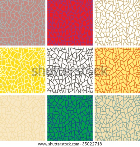 Vector set of seamless line patterns.