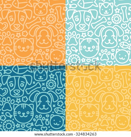 vector set of seamless patterns