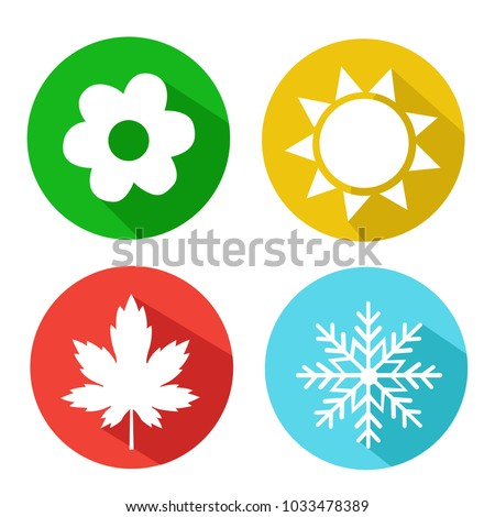 vector set of seasons icons