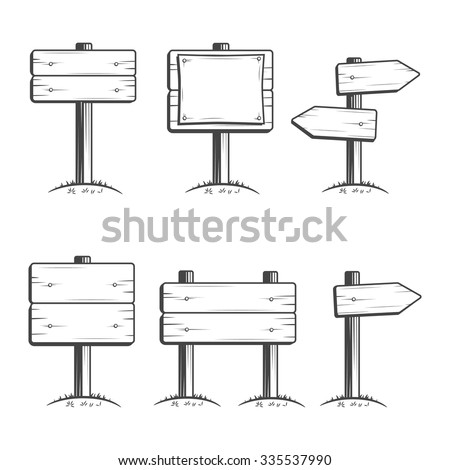 Vector Set of Signposts #335537990