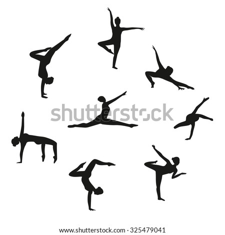 vector set of silhouette