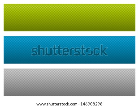 Vector set of simple colorful banners