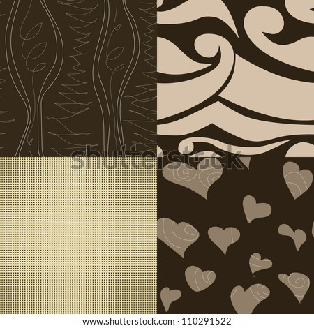 vector set of simple seamless patterns