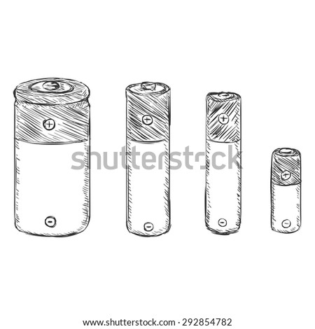 vector set of sketch batteries