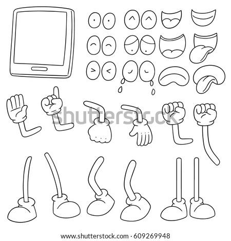 vector set of smartphone cartoon #609269948