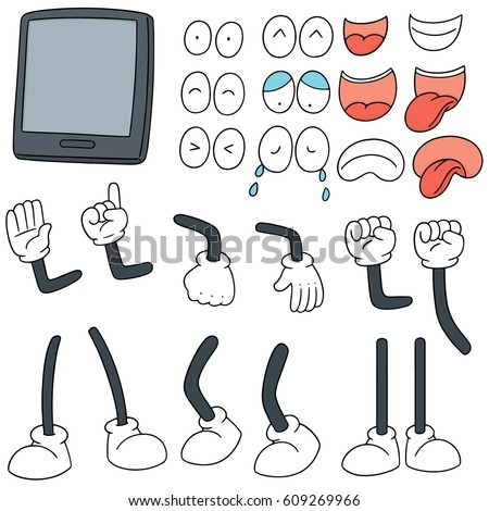 vector set of smartphone cartoon #609269966