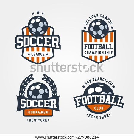 vector set of soccer football
