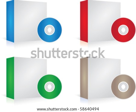 Vector set of software boxes 58640494 shutterstock Vector image software