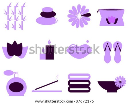 vector set of spa elements.