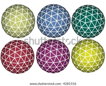 Vector set of spheres