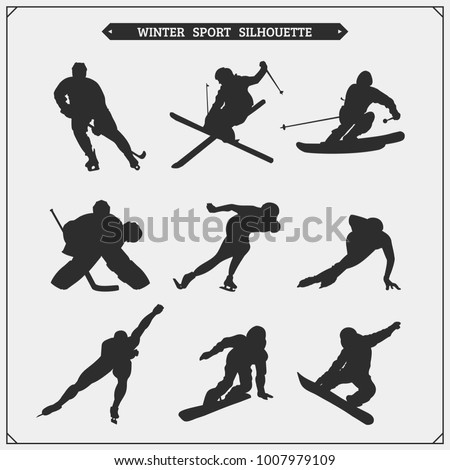 vector set of sport players