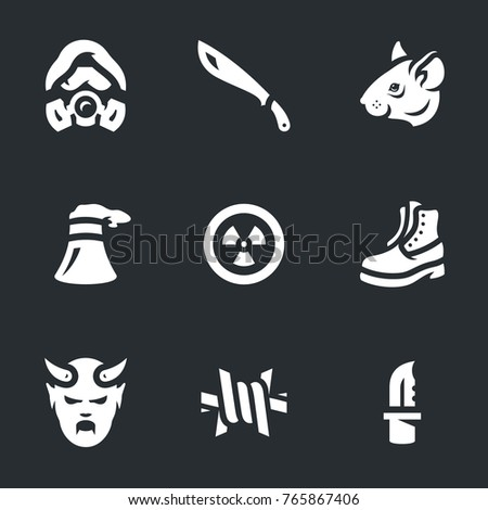 vector set of stalker icons