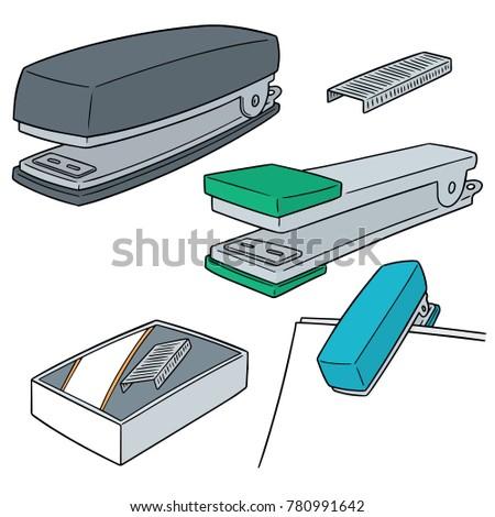 vector set of staplers