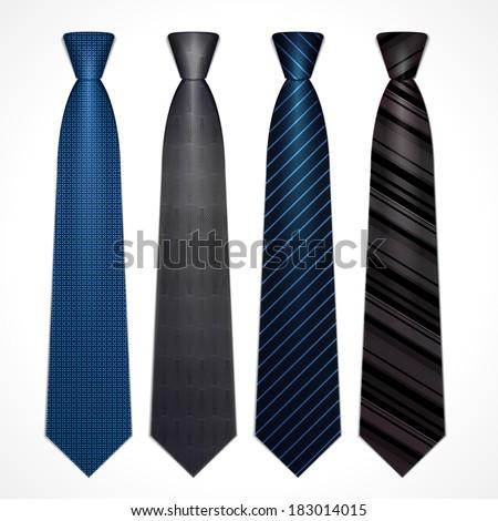 Vector set of strict classical ties dark colors Stock foto ©