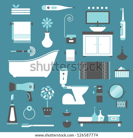 vector set of stylized various