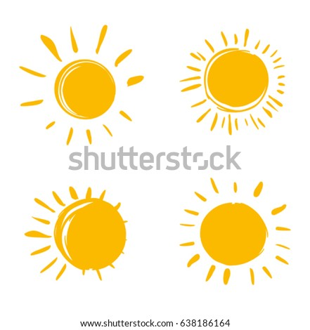 vector set of suns four