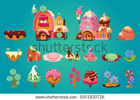 vector set of sweet landscape