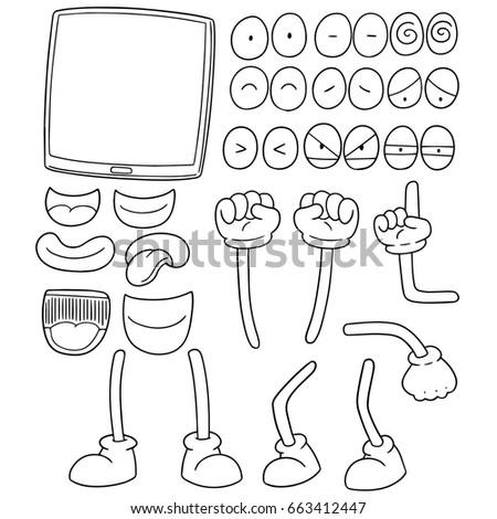 vector set of tablet cartoon #663412447