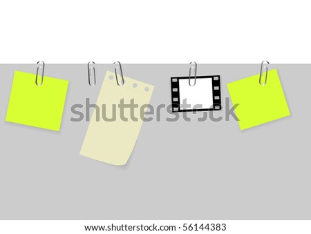 Vector set of tags with paperclips