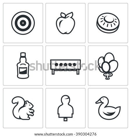 vector set of target icons
