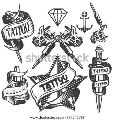 vector set of tattoo vector