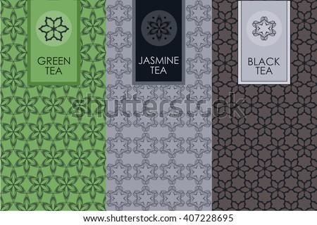 free tea labels vector set download free vector art stock