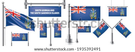 vector set of the national flag