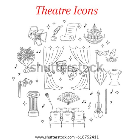 vector set of theater icons...