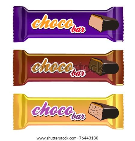 vector set of three chocolate