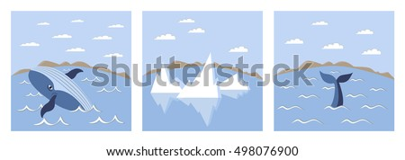 vector set of three pictures a